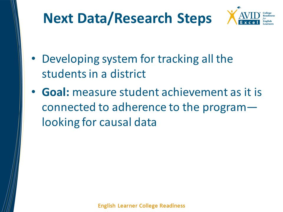 Next Data/Research Steps