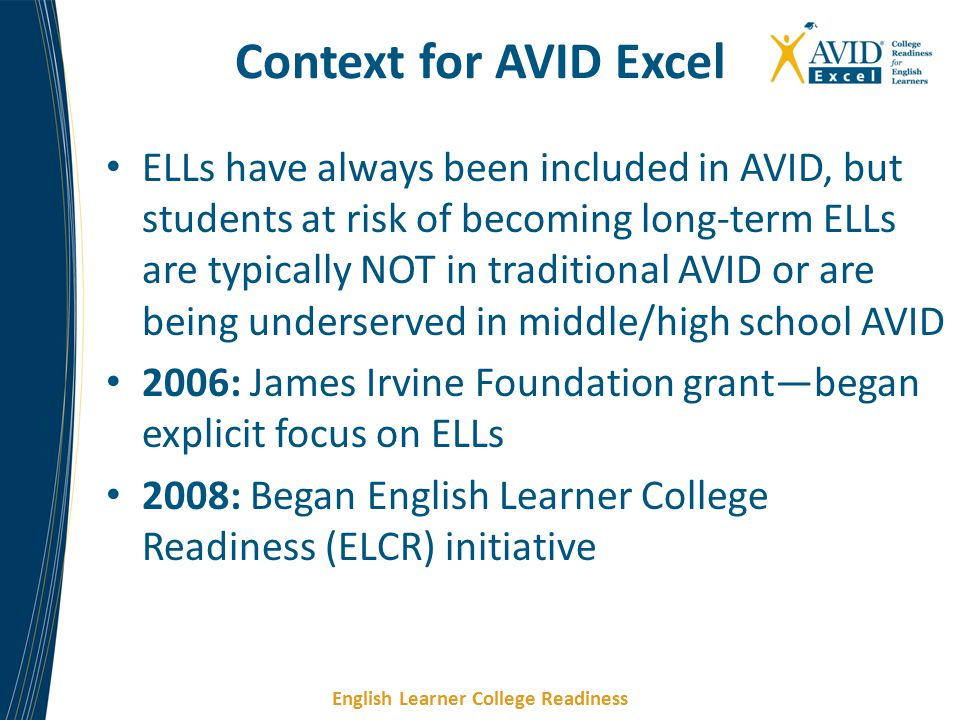 Context for AVID Excel