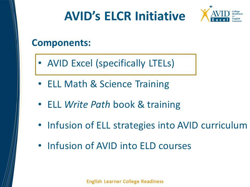 AVID's ELCR Initiative
