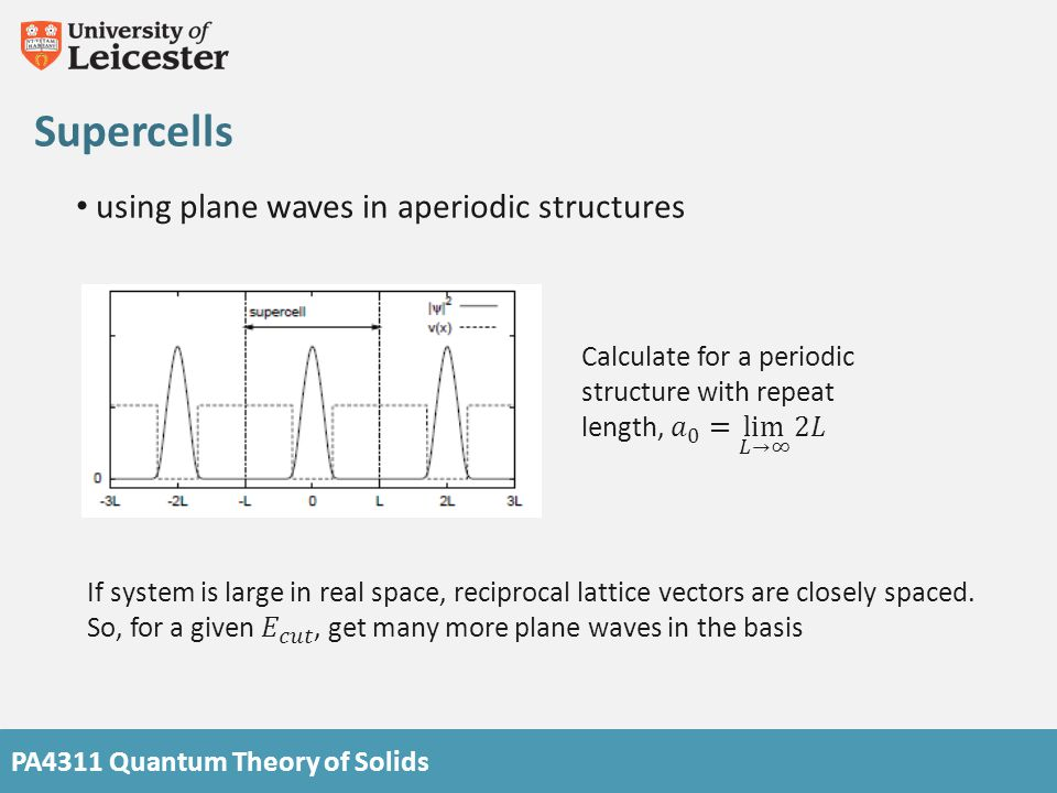 Supercells using plane waves in aperiodic structures