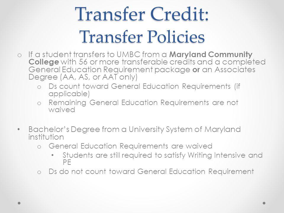 Transfer Credit: Transfer Policies