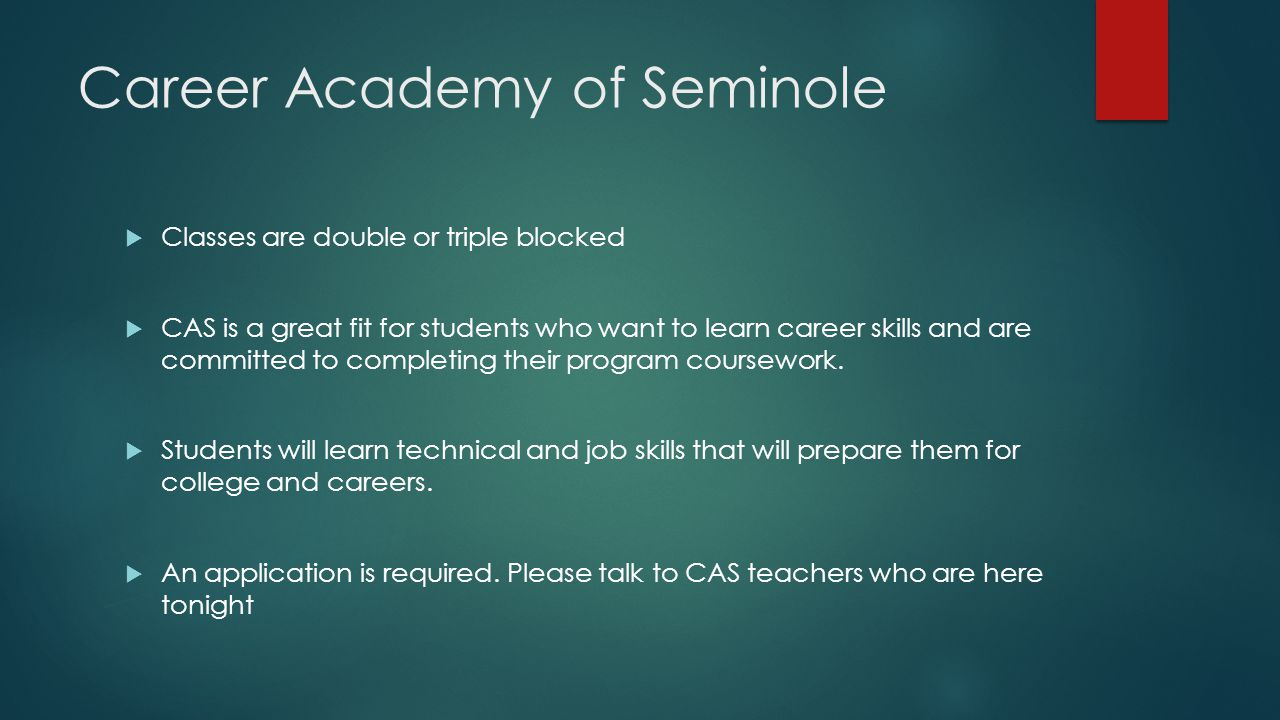 Career Academy of Seminole