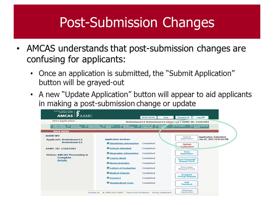 Post-Submission Changes
