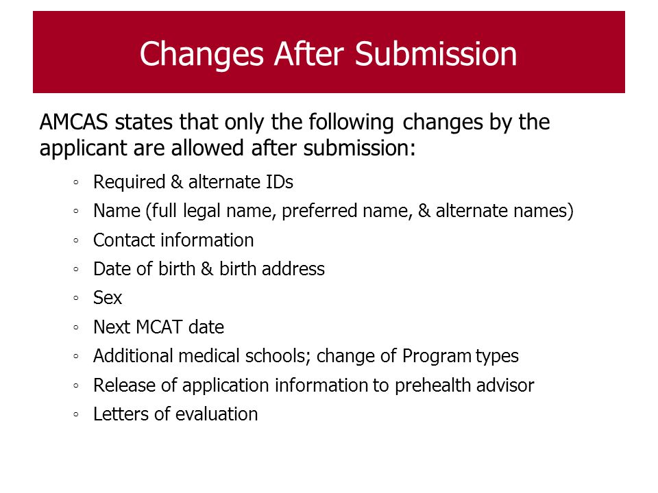 Changes After Submission