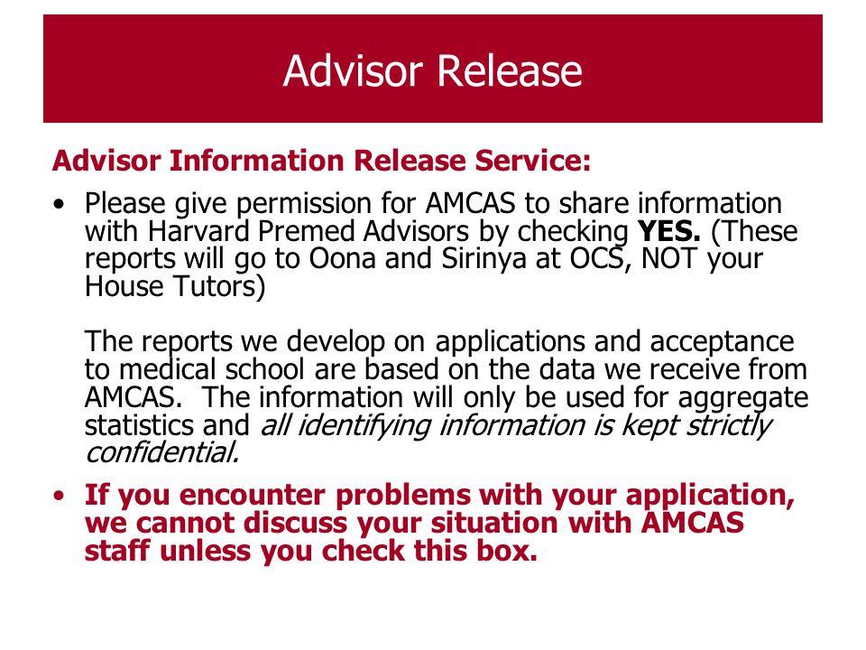 Advisor Release Advisor Information Release Service: