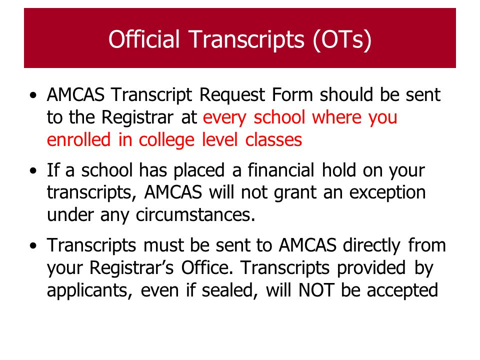 Completing the 2015 AMCAS Application - ppt download