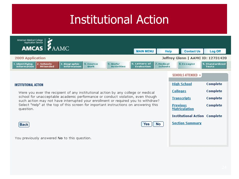 Institutional Action .