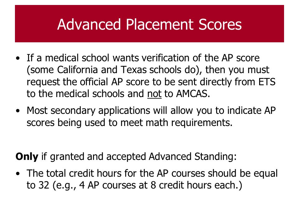 amcas coursework ap In the complete amcas course how to enter coursework, including study abroad, ap, and college courses taken in high school what courses are included in your amcas gpa calculation (you may be surprised) how amcas presents gpa data to medical schools and why this matters.