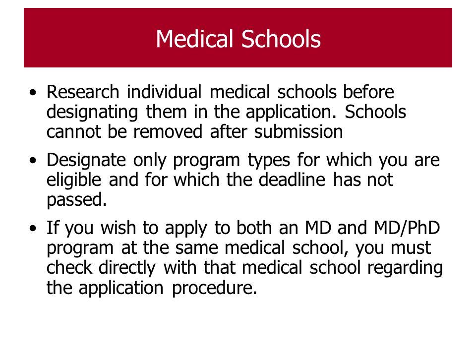 medical school essay research