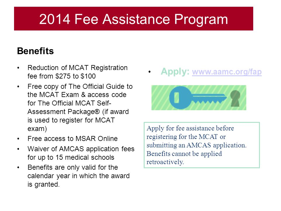 2014 Fee Assistance Program