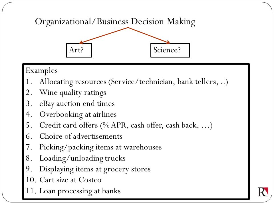 Organizational/Business Decision Making