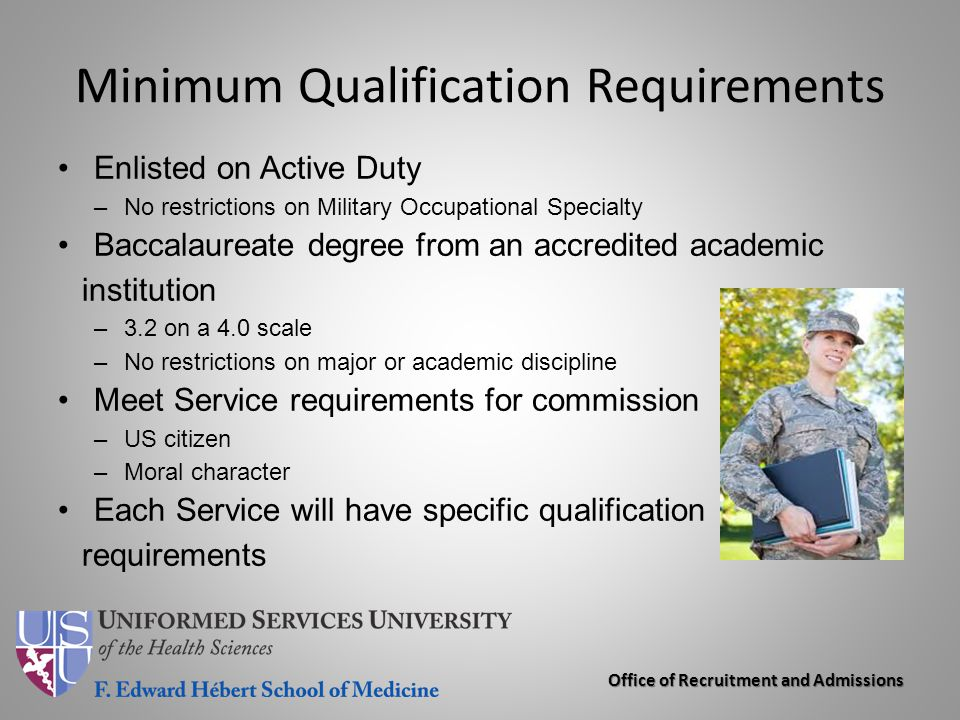 Minimum Qualification Requirements