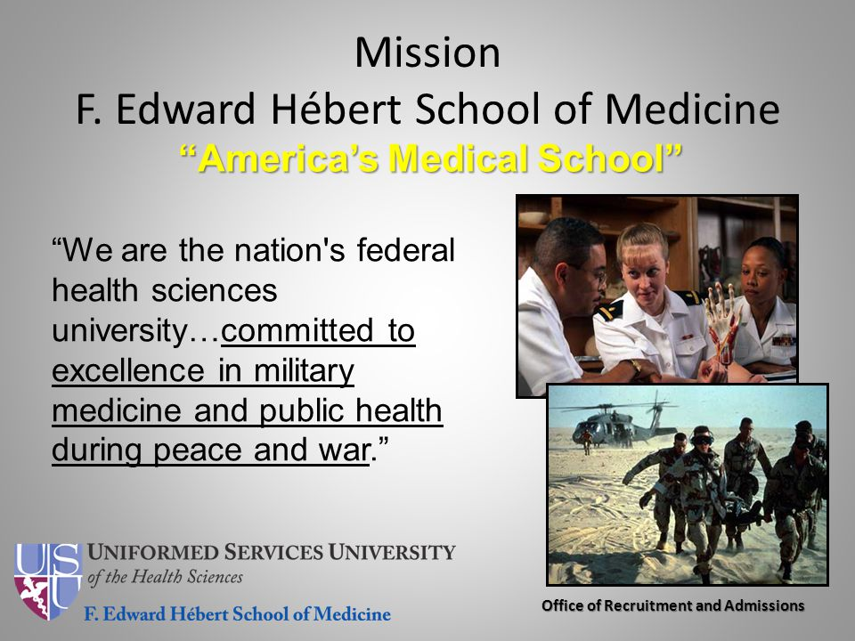 Mission F. Edward Hébert School of Medicine