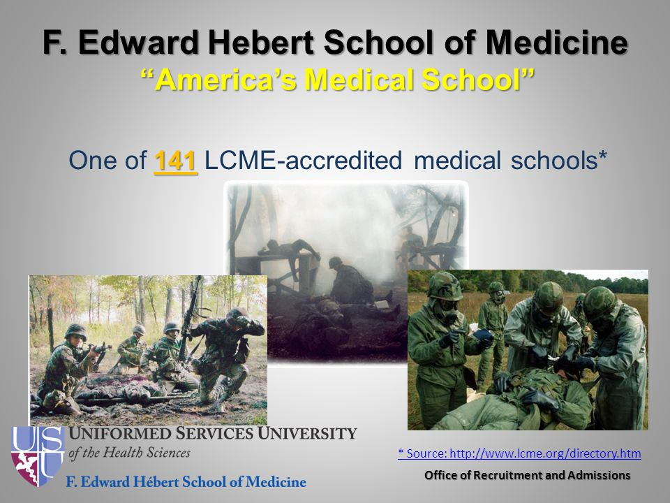 F. Edward Hebert School of Medicine America's Medical School