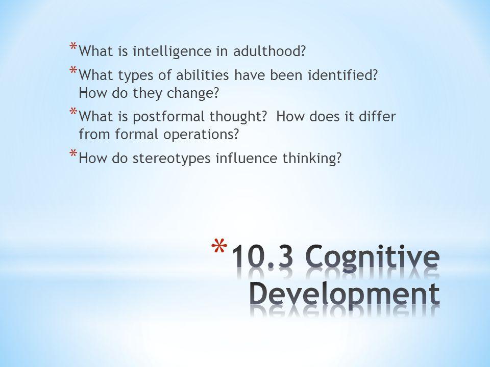 10.3 Cognitive Development
