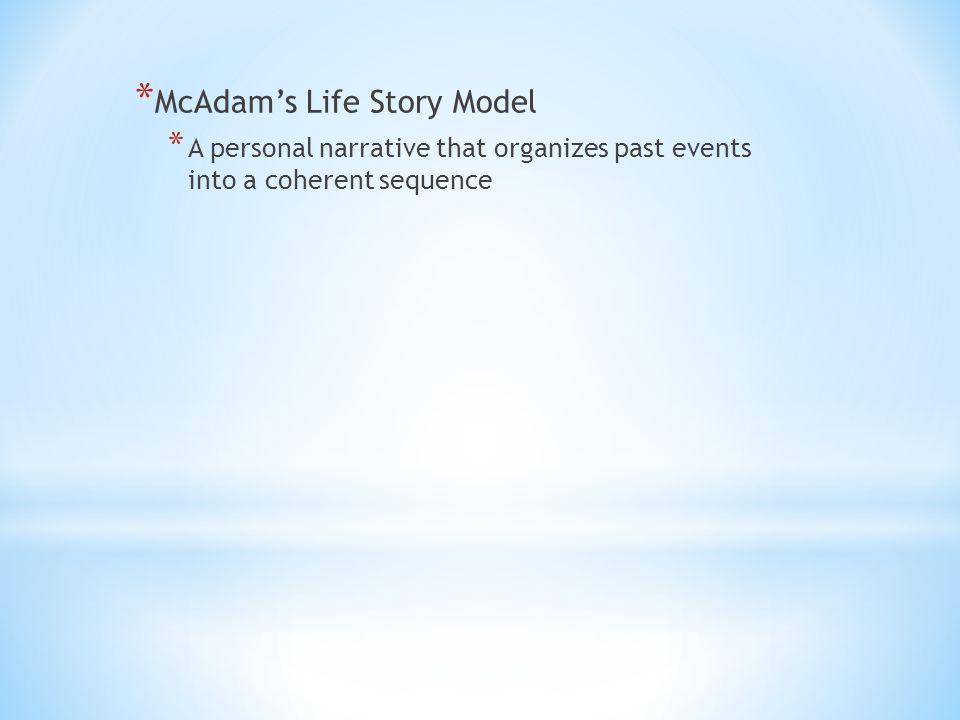 McAdam's Life Story Model