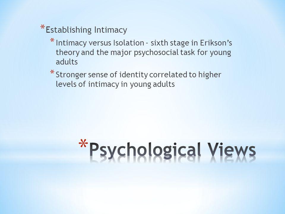 Psychological Views Establishing Intimacy