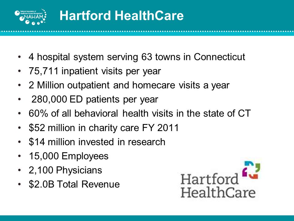 Hartford HealthCare 4 hospital system serving 63 towns in Connecticut