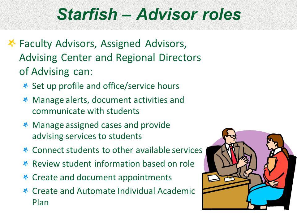 Starfish – Advisor roles