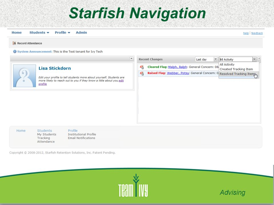 Starfish Navigation Advising