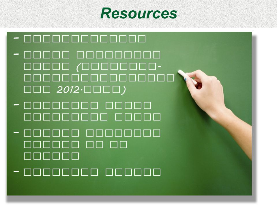 Resources Presentations