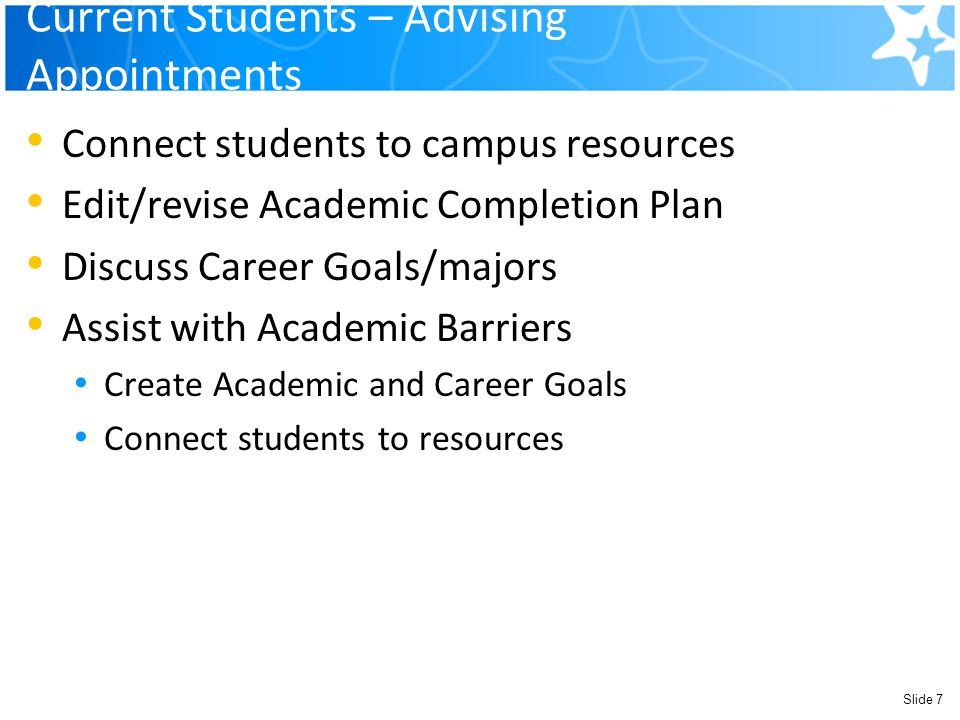 Current Students – Advising Appointments