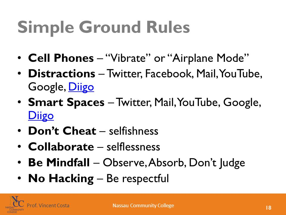 Simple Ground Rules Cell Phones – Vibrate or Airplane Mode