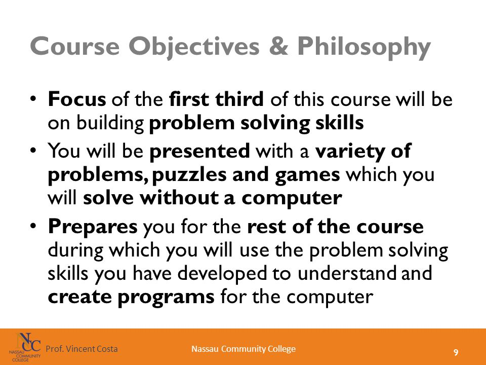 Course Objectives & Philosophy