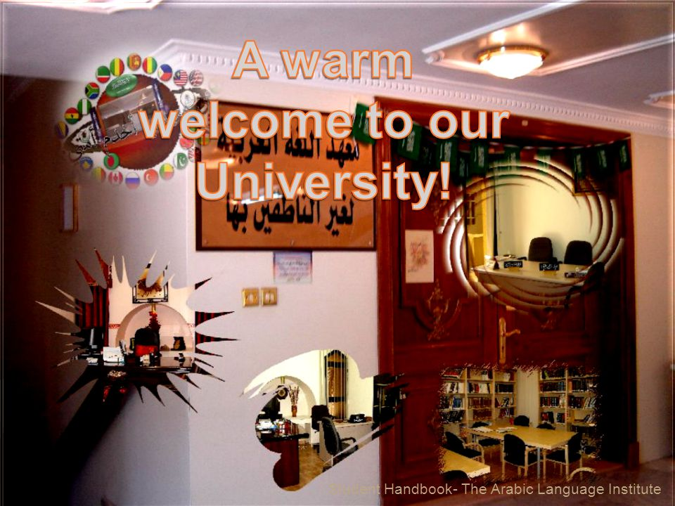 A warm welcome to our University!