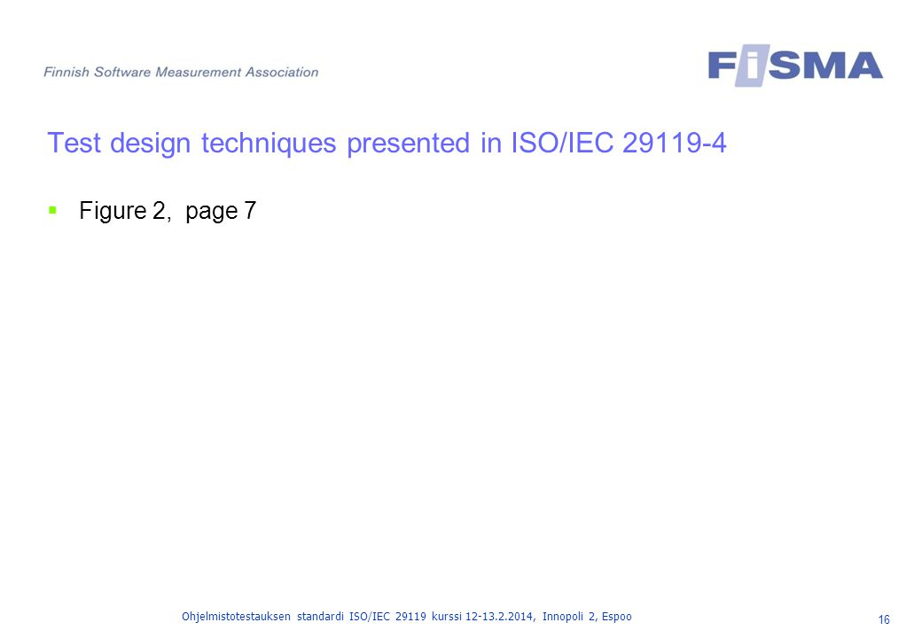 Test design techniques presented in ISO/IEC 29119-4