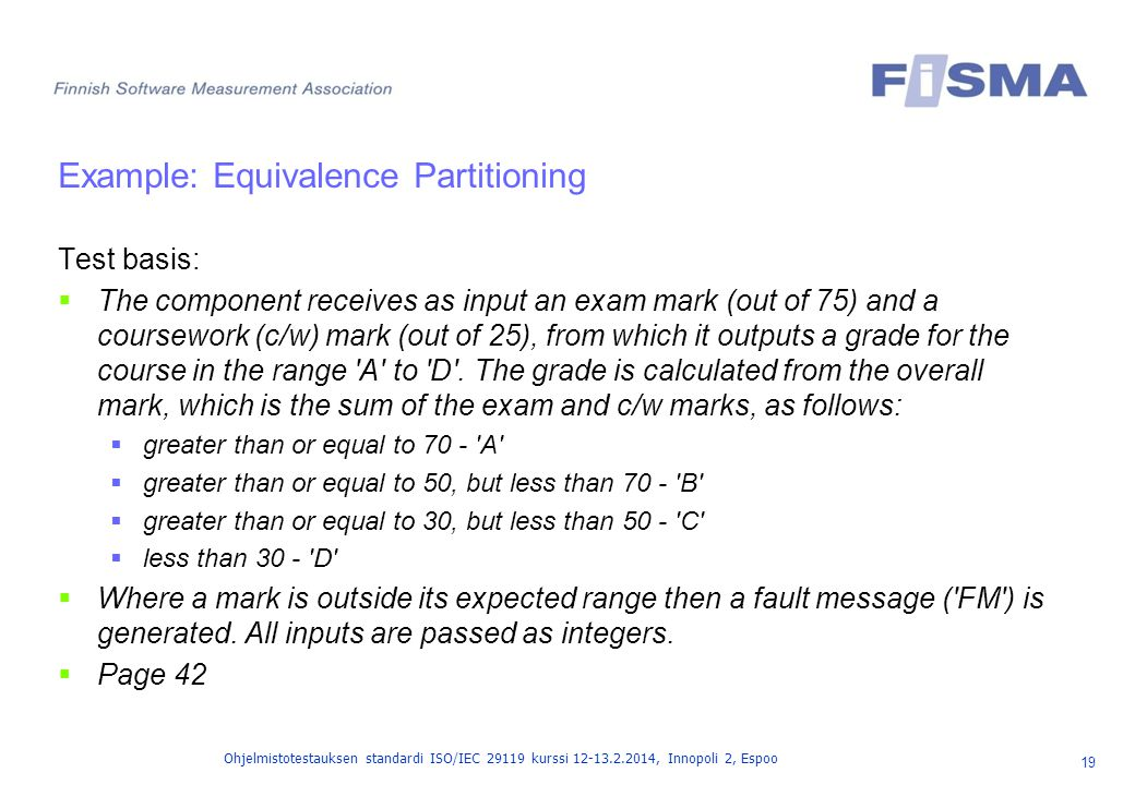 Example: Equivalence Partitioning