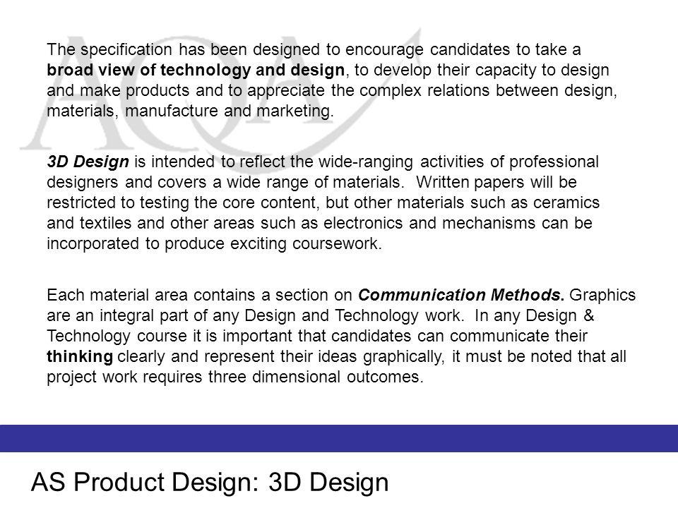 AS Product Design: 3D Design