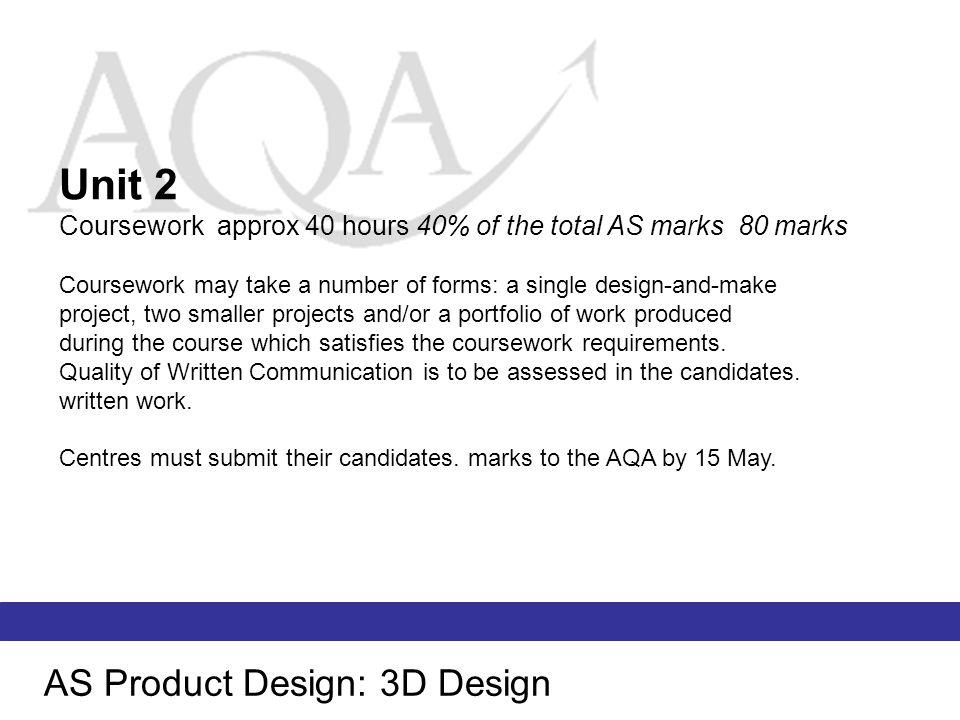 Unit 2 AS Product Design: 3D Design