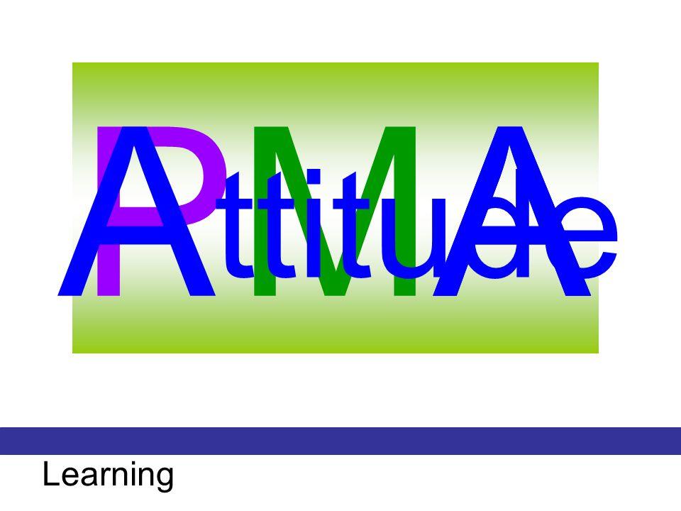 A PMA A ttitude Learning