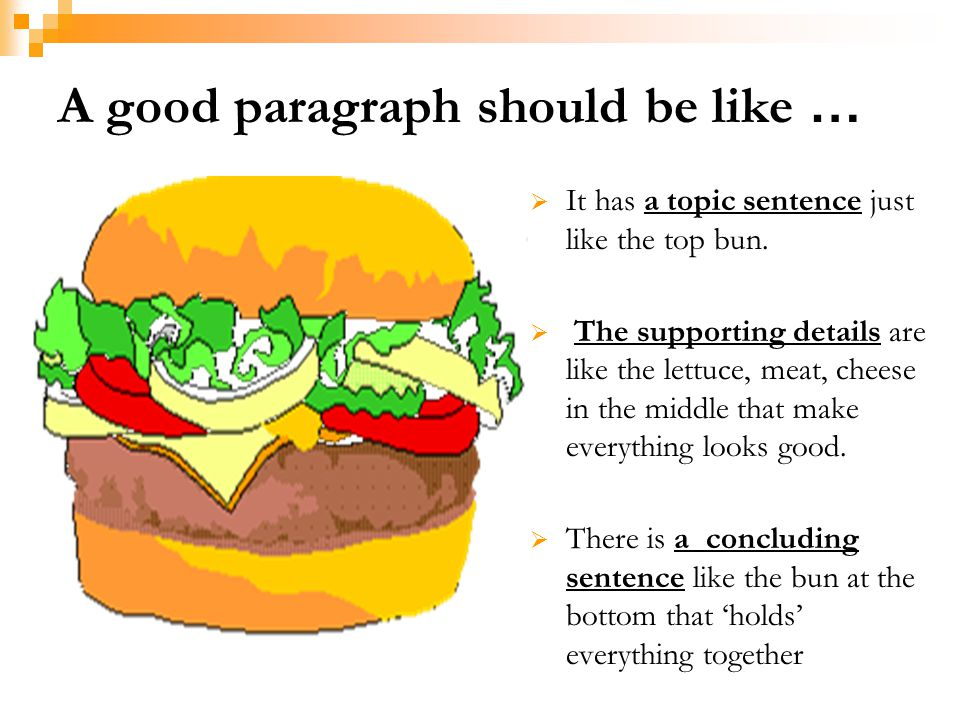 A good paragraph should be like …