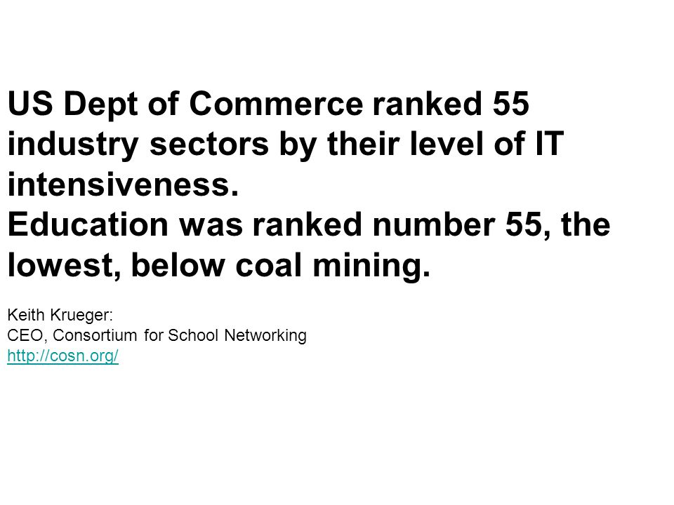 Education was ranked number 55, the lowest, below coal mining.