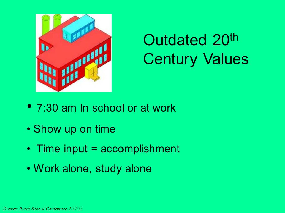 Outdated 20th Century Values
