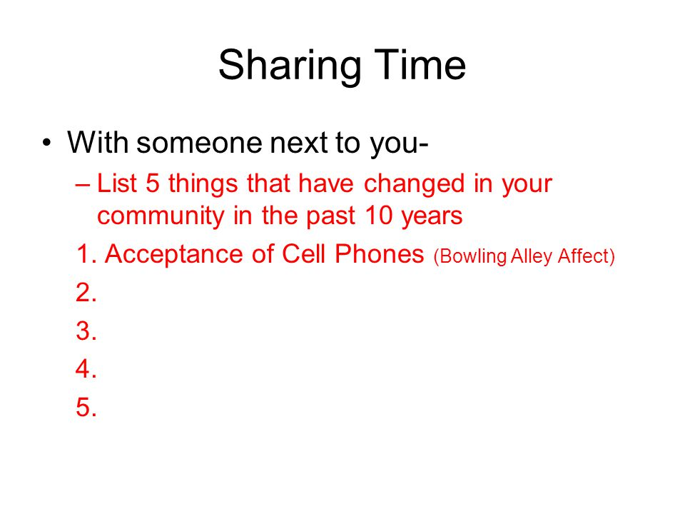 Sharing Time With someone next to you-