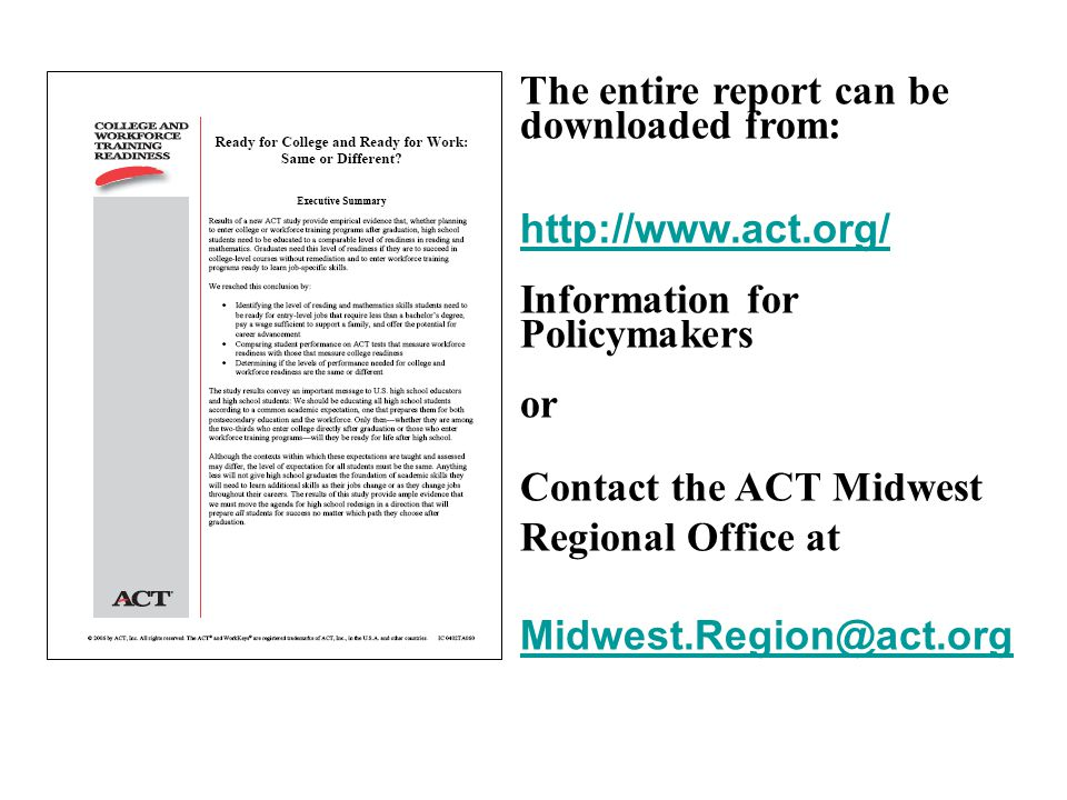 The entire report can be downloaded from: