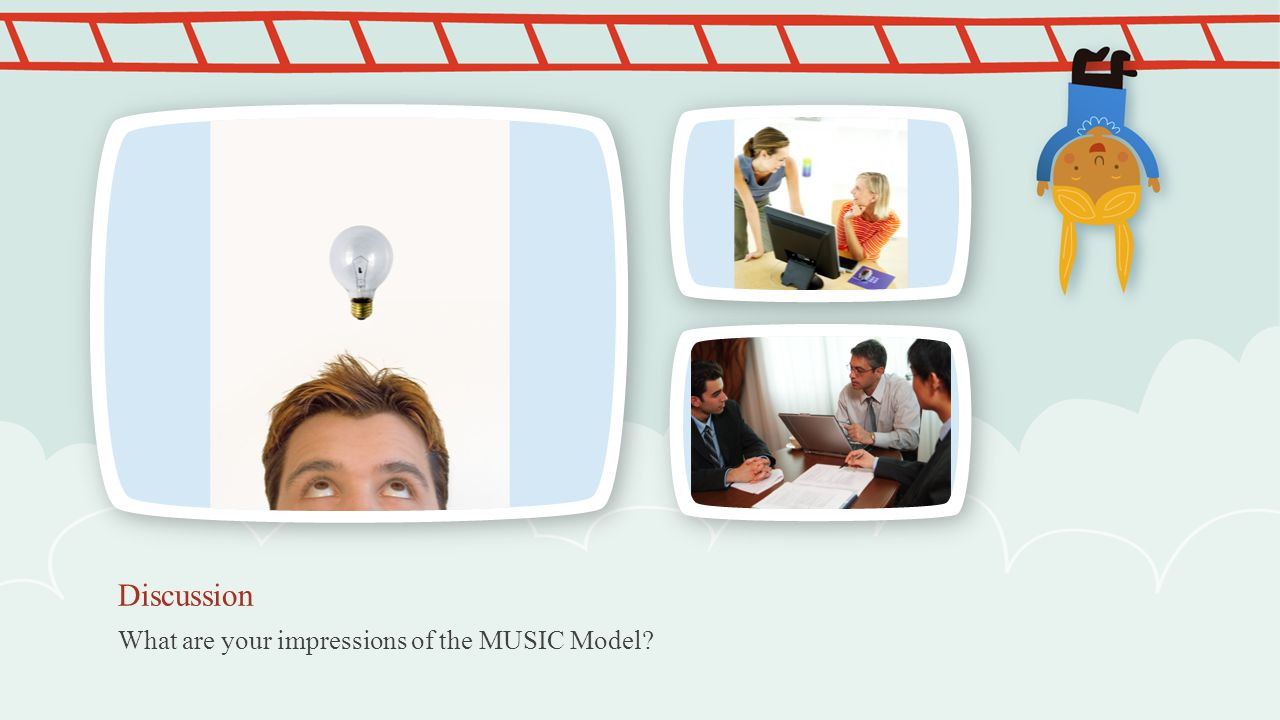 Discussion What are your impressions of the MUSIC Model NOTE: