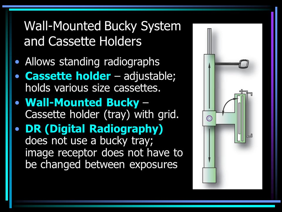 Wall-Mounted Bucky System and Cassette Holders