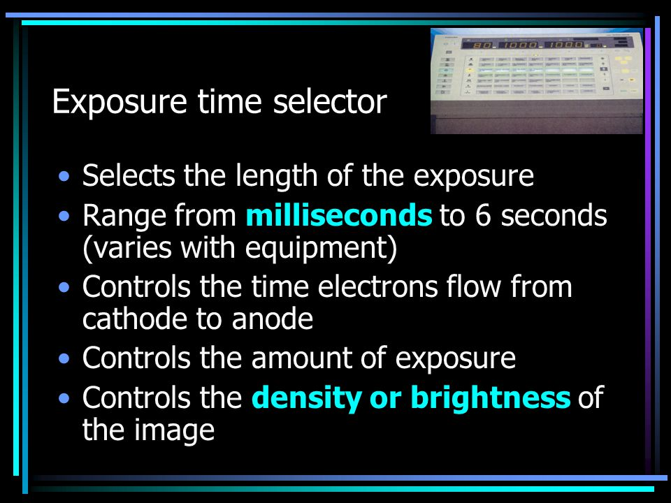 Exposure time selector
