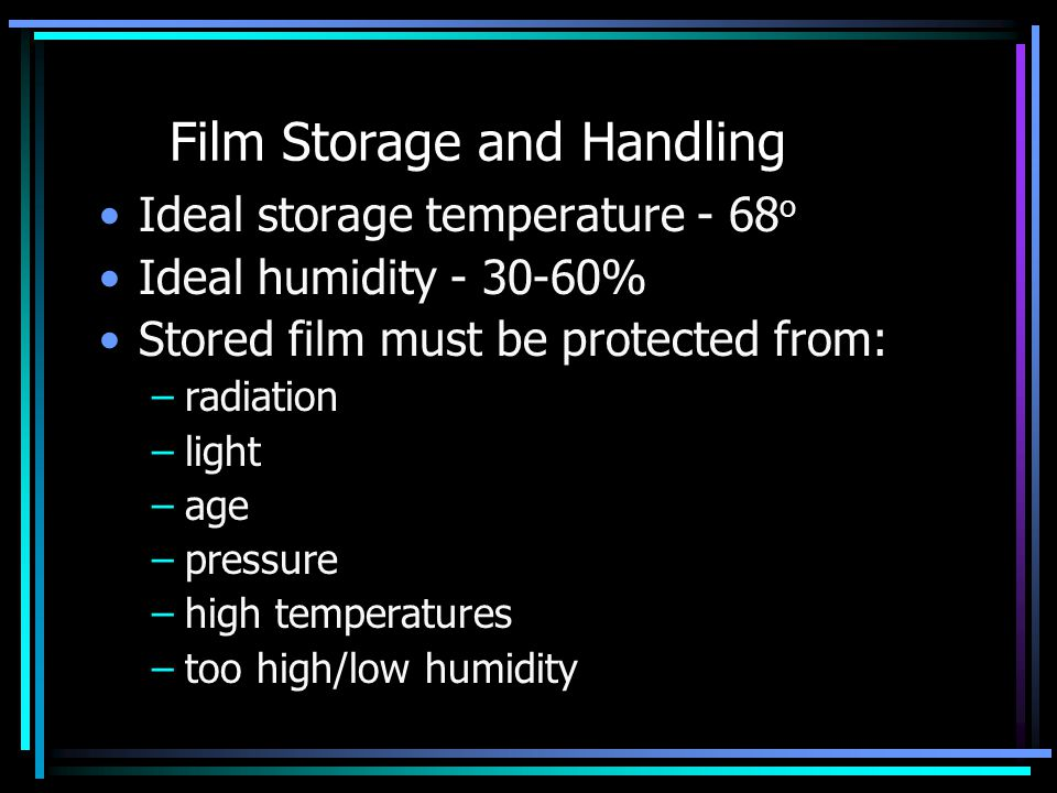 Film Storage and Handling
