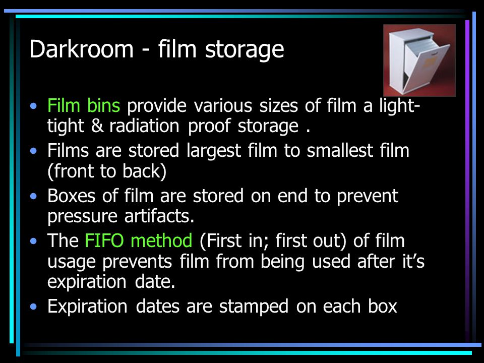 Darkroom - film storage