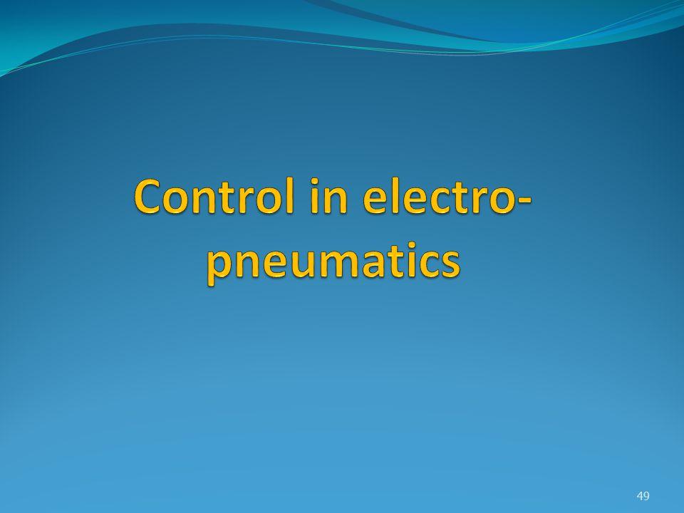 Control in electro-pneumatics