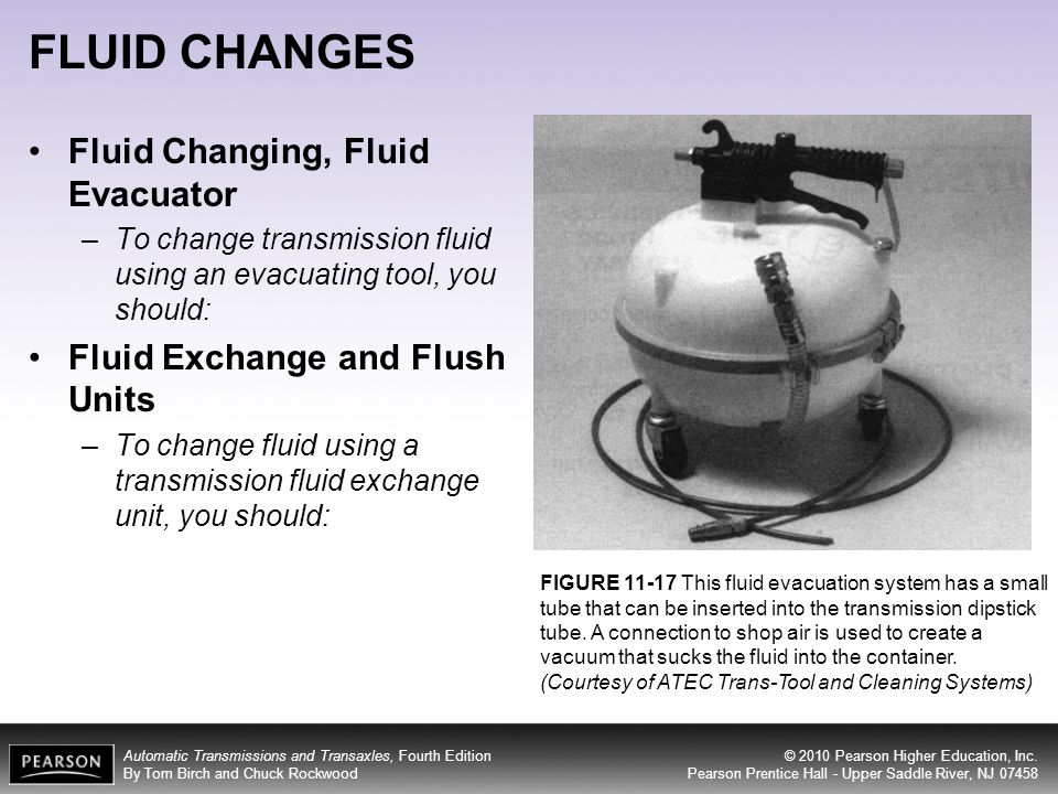 FLUID CHANGES Fluid Changing, Fluid Evacuator