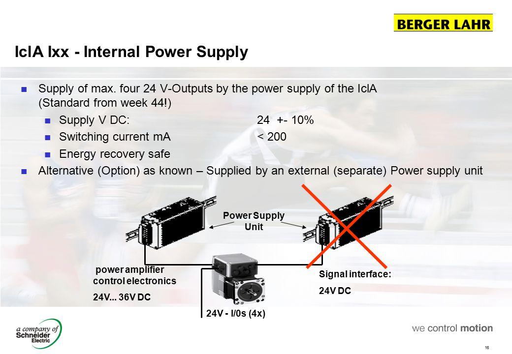 IclA Ixx - Internal Power Supply