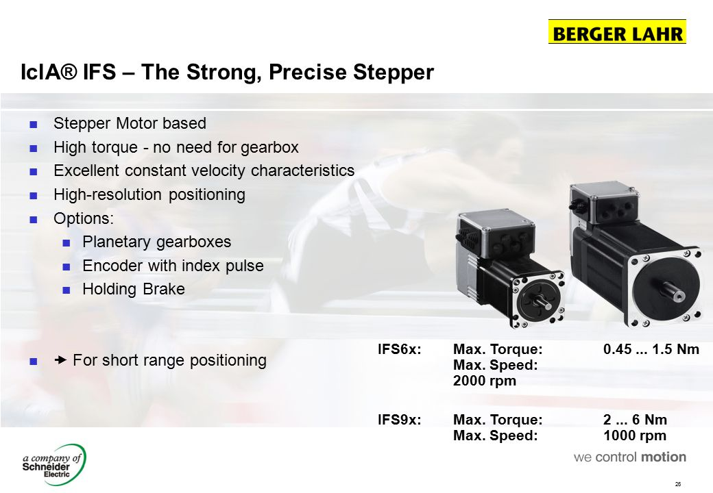 IclA® IFS – The Strong, Precise Stepper