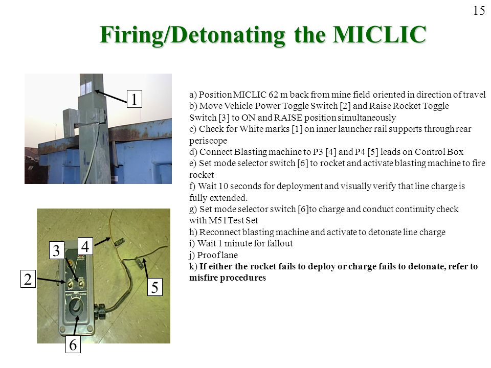 Firing/Detonating the MICLIC