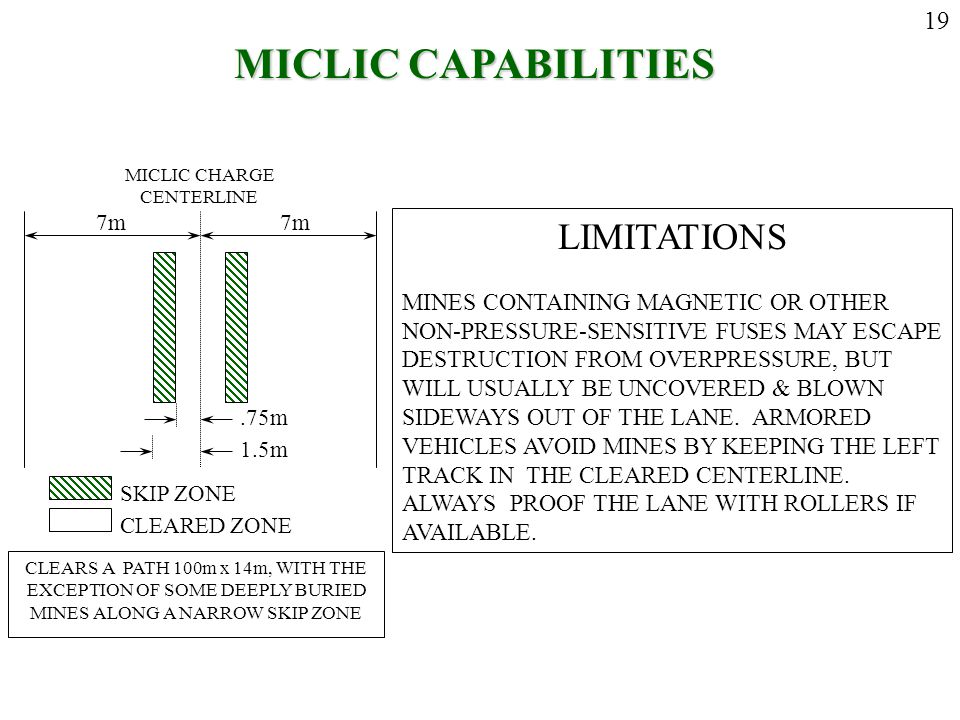 MICLIC CAPABILITIES LIMITATIONS 19